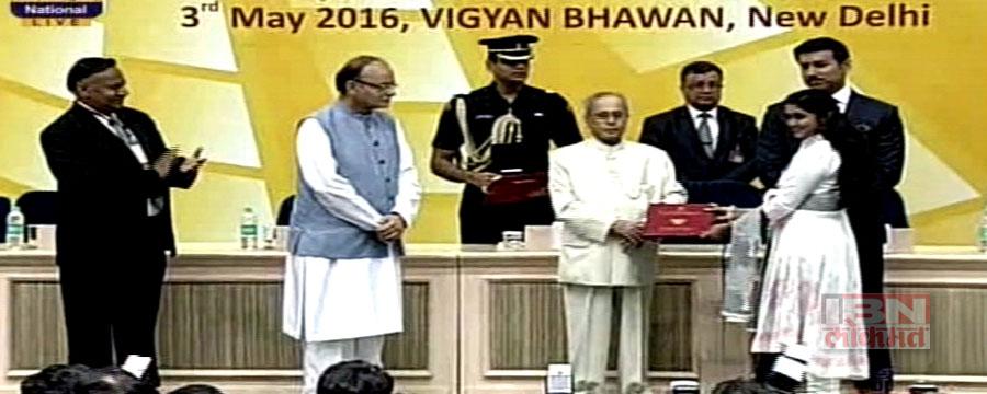 दिल्लीत फडकला मराठीचा झेंडा, राष्ट्रपतींच्या हस्ते रिंकुला पुरस्कार