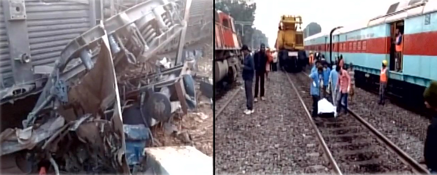 Kanpur train derailed
