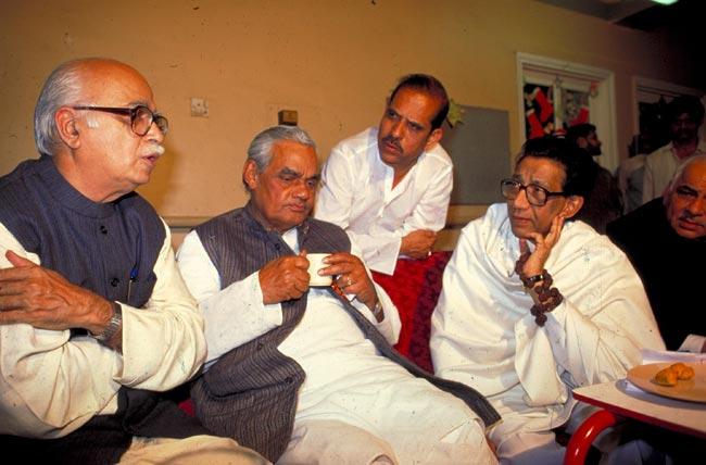 balasaheb thakre and bihari vajpayee