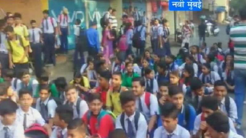 नवी मुंबईत दहावीच्या विद्यार्थ्यांचा रास्ता रोको