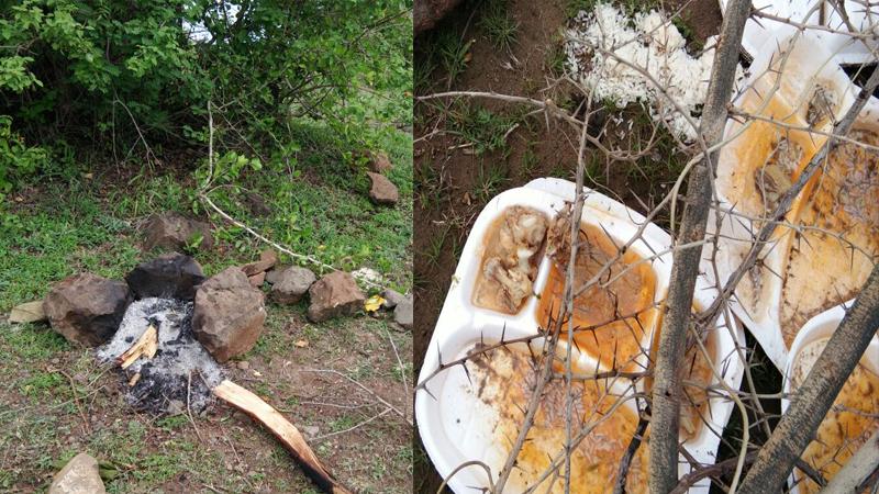 मोराची शिकार करून मांस चंदनाच्या लाकडांवर शिजवलं