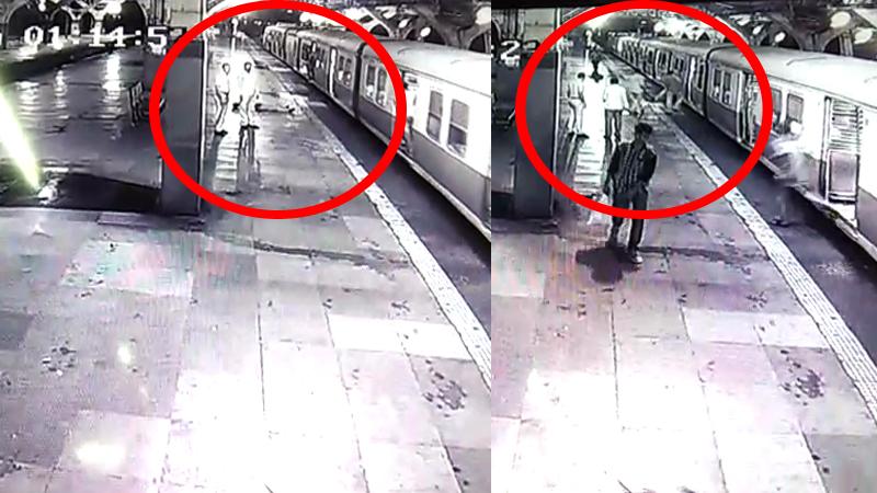 'तो' जखमेनं विव्हळत होता, रेल्वे पोलीस त्याला लोकलमध्ये ढकलत होते