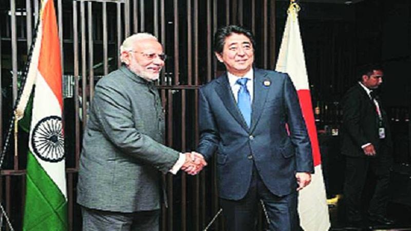 जपानचे पंतप्रधान शिंजो आबे भारत दौऱ्यावर