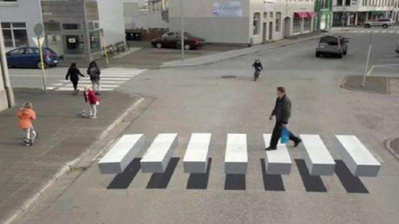आइसलँडमध्ये बनतंय थ्रीडी झेब्रा क्राॅसिंग