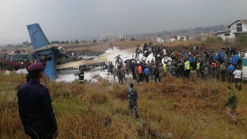 काठमांडू एअरपोर्टजवळ प्रवासी विमानाला अपघात; 50 जणांचा मृत्यू