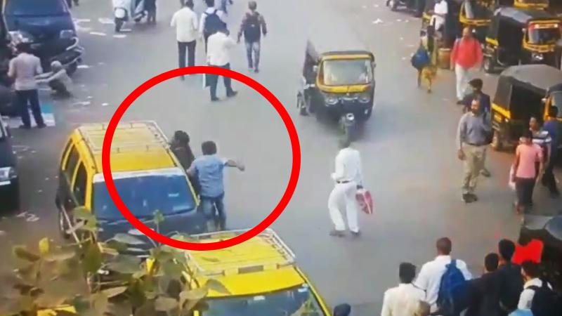 मानखुर्द स्टेशनबाहेर भरदिवसा पतीचा पत्नीवर चाकू हल्ला, लोकं फक्त पाहत होती !