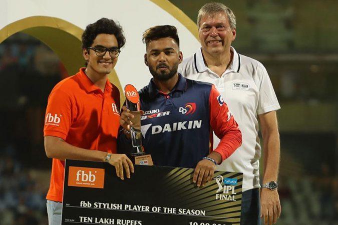 दिल्ली डेअरडेव्हिल्स संघाचा 'रिषभ पंत' सर्वात स्टायलीश आणि इमरजिंग खेळाडू ठरला आहे.