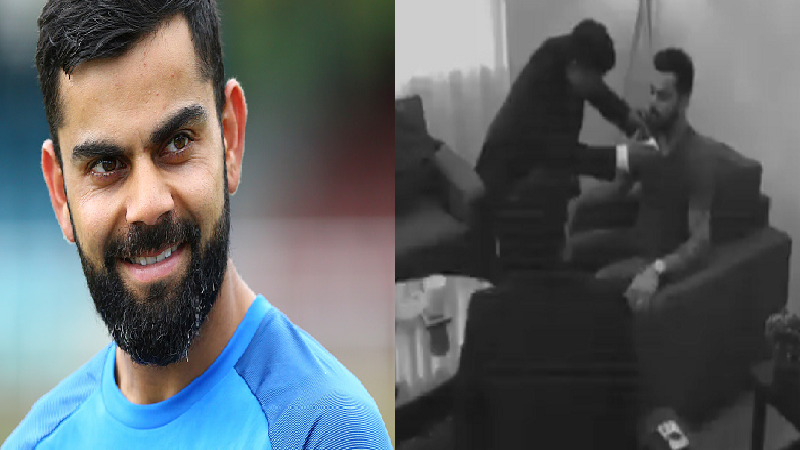 VIDEO काय ! विराट कोहलीने दाढीचा 'विमा' काढला