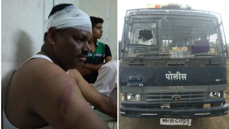 भांडण सोडवायला गेलेल्या पोलिसांनाच गावकऱ्यांची मारहाण, सात पोलीस जखमी