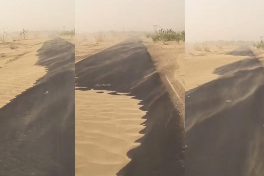 सुत्रांच्या माहितीनुसार, वाळवंटातील वादळामुळे जनजीवन विस्कळीत झालं आहे. जवळ-जवळ 2000 गावांचा सपंर्क तुटल्याचं सांगण्यात आलं आहे. रस्त्यावर वाहने चालवणं अवघड झालं आहे.