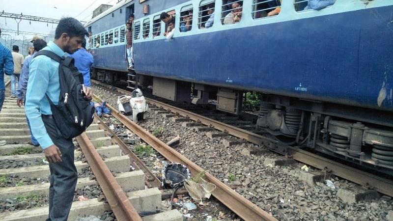 रेल्वे ट्रॅक क्रॉस करताना झाला अपघात