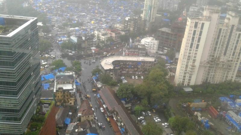 पश्चिम मुंबईमध्ये 'या' ठिकाणी होतोय मुसळधार पाऊस