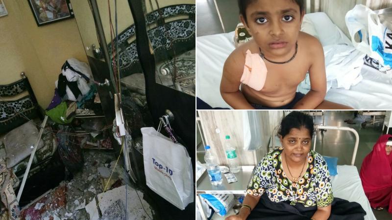 वांद्र्याच्या सरकारी वसाहतीचा स्लॅब कोसळला, आई आणि मुलगा गंभीर जखमी
