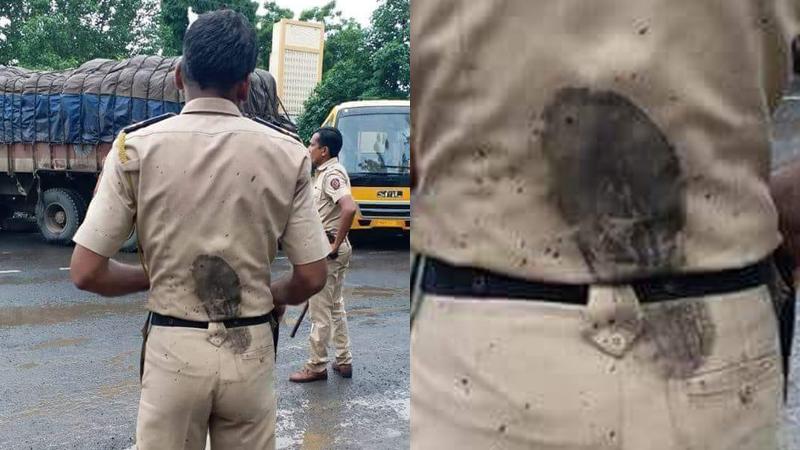 VIDEO : व्हायरल झालेल्या 'त्या' पोलिसाच्या फोटोची दुसरी बाजू !