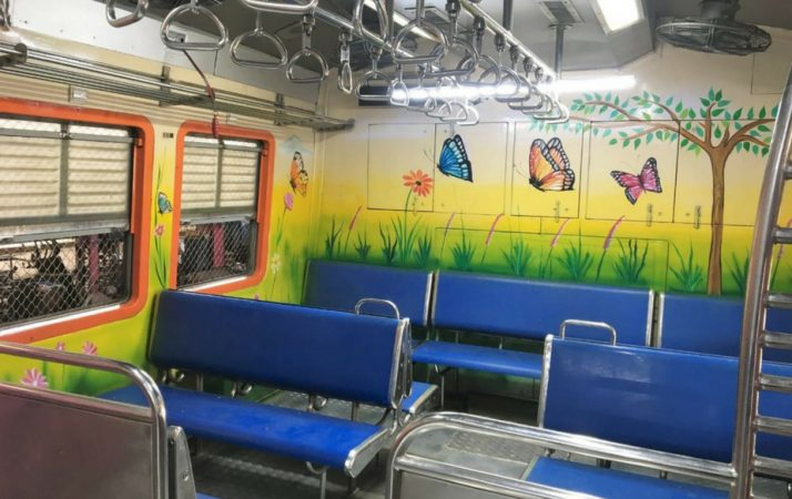 अनेक डब्यांमध्ये नव्यानं निसर्ग चित्रं रंगवण्यात आल्यानं आता महिलांसाठी ट्रेनचा प्रवास सुखद ठरणार आहेत.