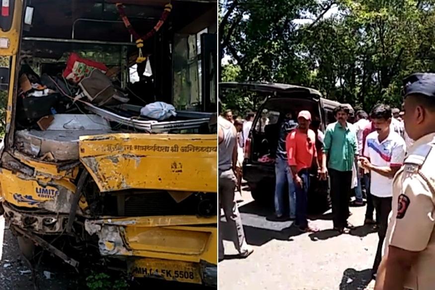 मुंबई-गोवा महामार्गावर भीषण अपघात, 5 गणेशभक्तांचा जागीच मृत्यू