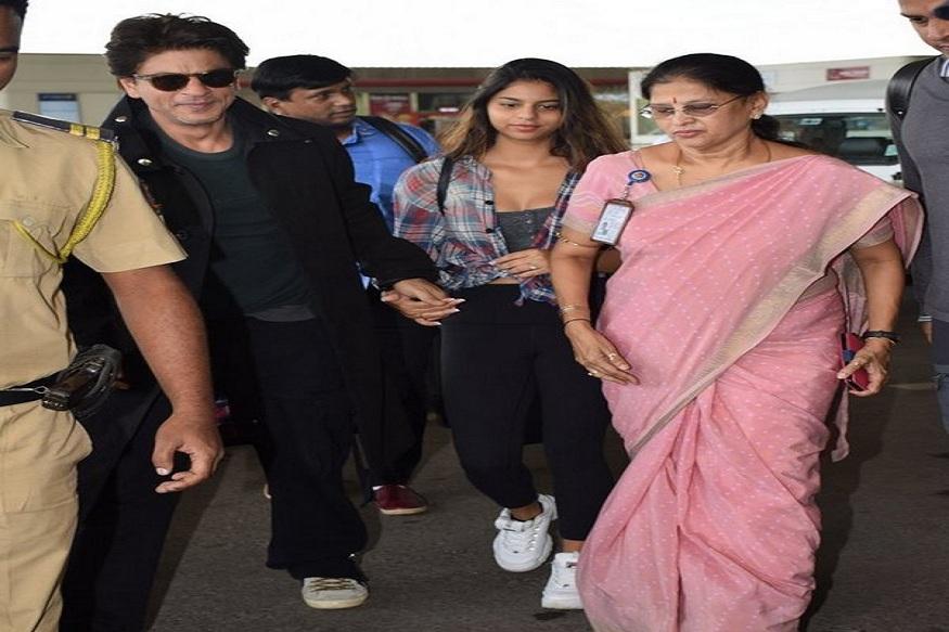 हा आहे शाहरुख आणि सुहाना खानचा मुंबई एअरपोर्टवरचा नवा लुक. कॅज्युअल लुकमध्ये शाहरुख आणि सुहाना फ्रेश दिसत होते.