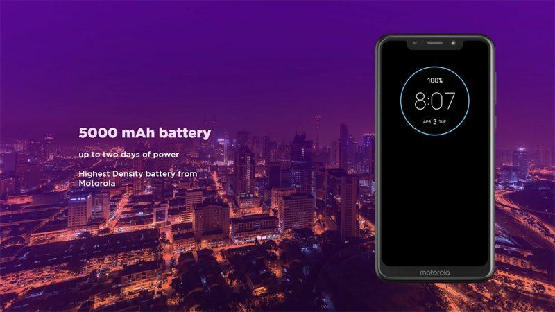 Motorola One Power हा मोटोरोलाचा भारतातला पहिला Android One स्मार्टफोन आहे. मोटोरोलाने या फोनमध्ये 5,000 mAh ची दमदार बॅटरी दिलीये.