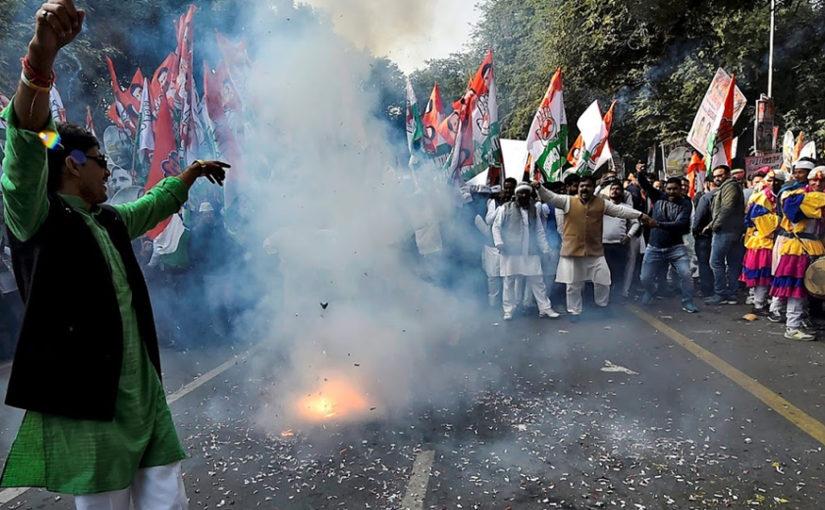 कर्नाटकात काँग्रेस-जेडीएसची दिवाळी, फक्त शिमोग्यात भाजपचा झेंडा