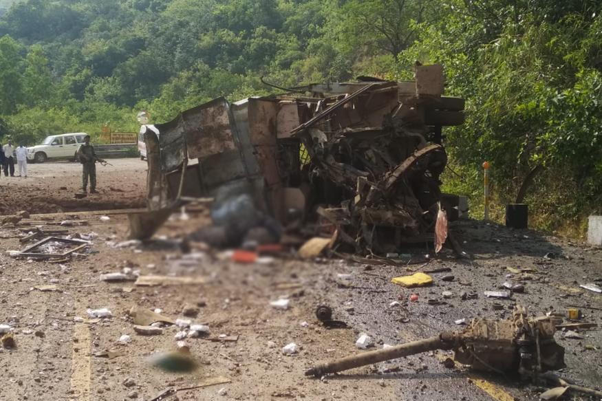 छत्तीसगडमध्ये माओवाद्यांनी पुन्हा घडवला भूसुरुंग स्फोट; एक जवान शहीद,5 लोकांचा मृत्यू