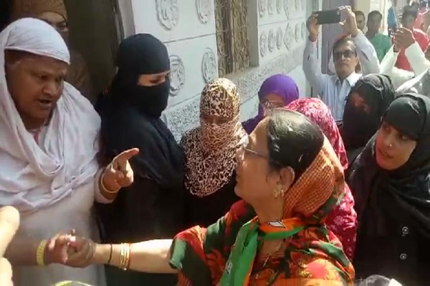 VIDEO : लोकांचा रोष, प्रचाराला आलेल्या मुख्यमंत्र्यांच्या पत्नीने घेतला काढता पाय