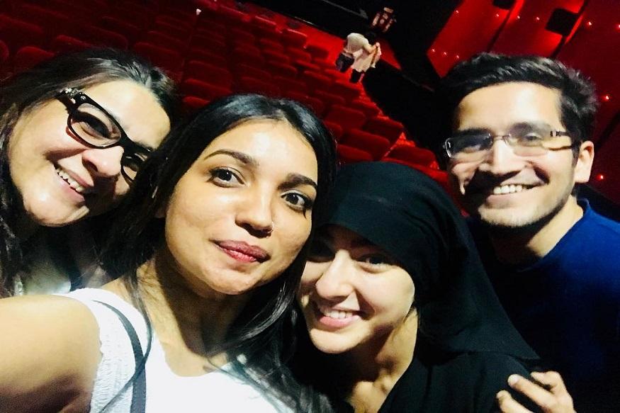 PHOTOS - ...म्हणून सारा अली खान अशी बुरखा घालून सिनेमा पाहायला गेली