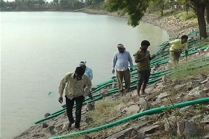 सगळं पाणी उपसून तलाव रिकामा करायला किमान ५ दिवस लागतील आणि ताज्या पाण्यानं पुन्हा भरायला पुढचे १५ दिवस जातील. मलप्रभा धरणाच्या तलावाचं पाणी यासाठी वापरण्यात येणार आहे.