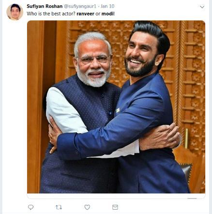 पंतप्रधान नरेंद्र मोदी यांनी  बॉलिवूडच्या कलाकारांना दिल्लीत खास खानपानासाठी खास आमंत्रित केले होते. यावेळी रणवीर सिंगनेही पंतप्रधान मोदींची भेट घेत त्यांच्यासोबत फोटो काढला होता. यावेळी काढलेल्या फोटोंचे भन्नाट मिम्स व्हायरल होत आहेत.
