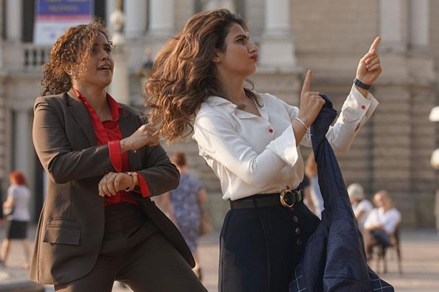 कामानिमित्त युरोपात गेल्यावर सान्या मल्होत्रासोबत डान्स करताना फतिमा सना शेख