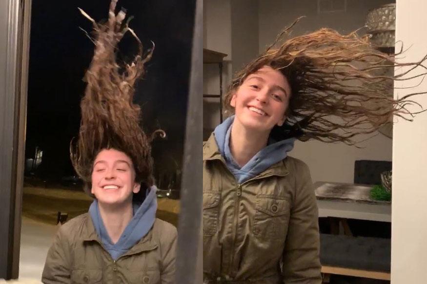 VIDEO थंडीचा कहर : केस सुकवण्यासाठी घराबाहेर गेली अन् केसच गोठले