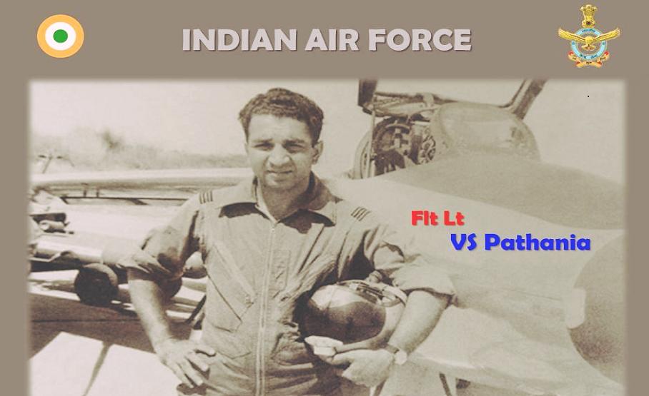 4 सप्टेंबर, 1965 रोजी फ्लाइट लेफ्टनंट व्ही. एस. पठानिया Gnat विमान उडवत दुसऱ्या पीएफ सेबर जेट विमानाला पाडलं होतं. (Photo credit: Indian Air Force)