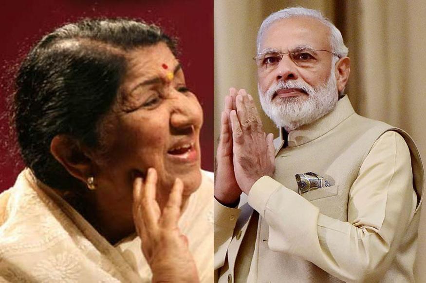 पंतप्रधान मोदींनी वाचलेल्या कवितेला लता दीदींच्या स्वरांचा साज