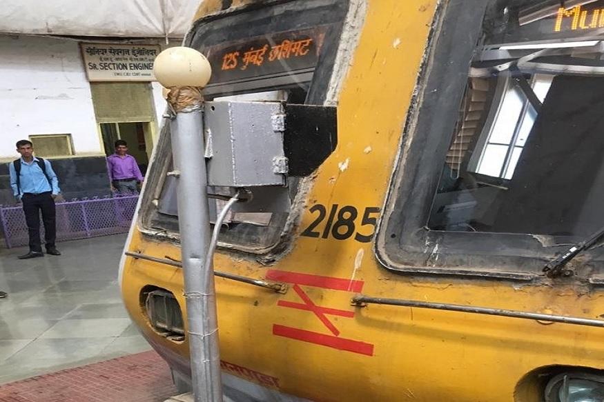 सीएसएमटी स्टेशनवर लोकल बफरवर धडकली, मोठी दुर्घटना होता-होता टळली