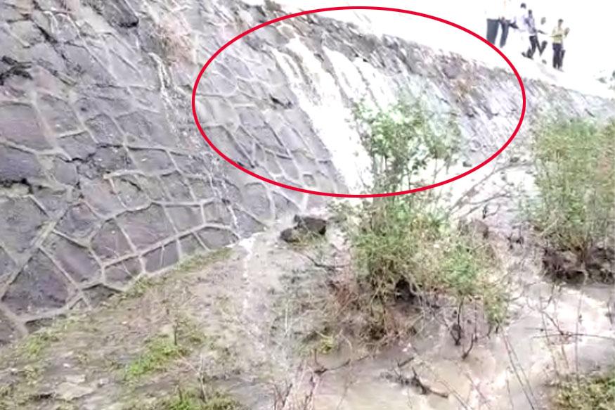 जालना: धामणा धरणाच्या  भिंतीला तडे, गावकऱ्यांमध्ये भीतीचे वातावरण