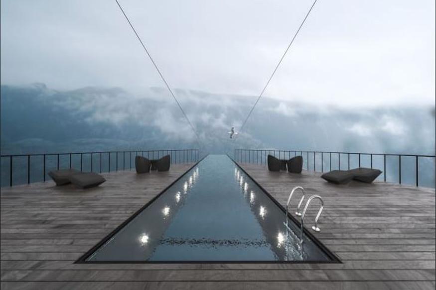नॉर्वेमधल्या प्रिकेस्टोलनमधल्या डोंगरात हे हॉटेल बांधलं जाणार आहे. दक्षिण नॉर्वेमधल्या डोंगरावर अनेक पर्यटक येतात. पर्यटकांची वाढती मागणी पाहून हे हॉटेल वेगाने बांधलं जाणार आहे.