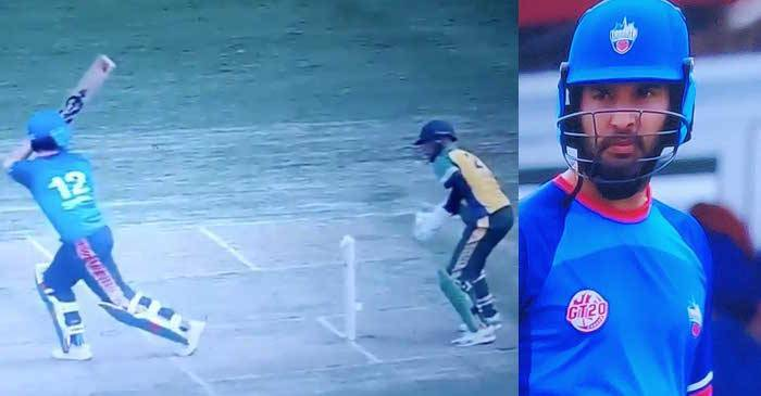 चार महिन्यांनंतर क्रिकेट खेळणाऱ्या युवराजला बॅट आणि बॉल यांचा संपर्क करणे कठीण जात होते. अखेर रिजवान चीमाच्या गोलंदाजीवर तो बाद झाला. मात्र रिप्लेमध्ये युवराज नॉट आऊट असल्याचे निष्पण्ण झाले.