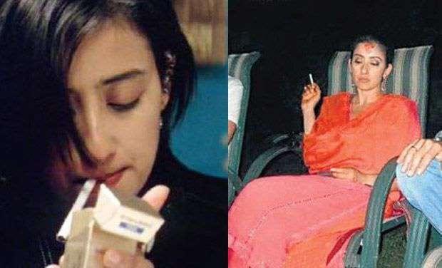 अभिनेत्री मनिषा कोईराला सुद्धा पब्लिकली स्मोकिंग करताना दिसली होती. मात्र काही वर्षांपूर्वी कॅन्सर झाल्यानंतर तिनं स्मोकिंग करणं सोडलं आहे.