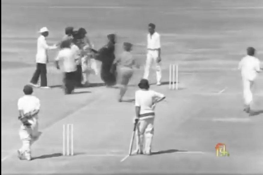 44 वर्षांपूर्वी तिनं मैदानात भारतीय फलंदाजाला केलं होतं किस, #SareeTwitter VIDEO VIRAL