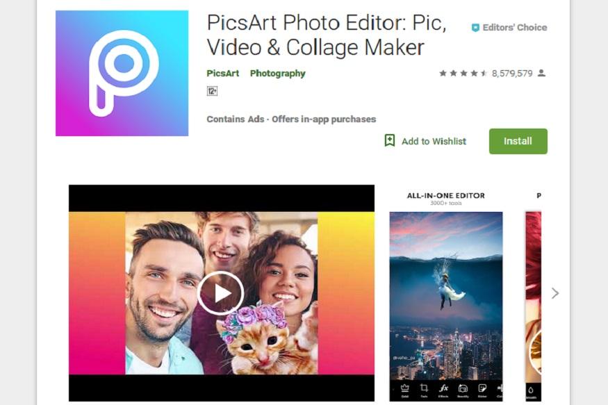 Pics Art Photo Studio हे अँड्रॉइड अॅप फोटो एडिटिंगसाठी सर्वाधिक वापरलं जातं. यामध्ये फिल्टर्स, शेप, कोलाज, फ्रेम या ऑप्शनमुळं फोटो हवा तसा एडिट करता येतो. यात सहजपणे इफेक्ट देता येतात. अॅप वापरण्यासाठी किंवा डाऊनलोड करण्यासाठी कोणत्याही प्रकारचे चार्जेस आकारले जात नाहीत.