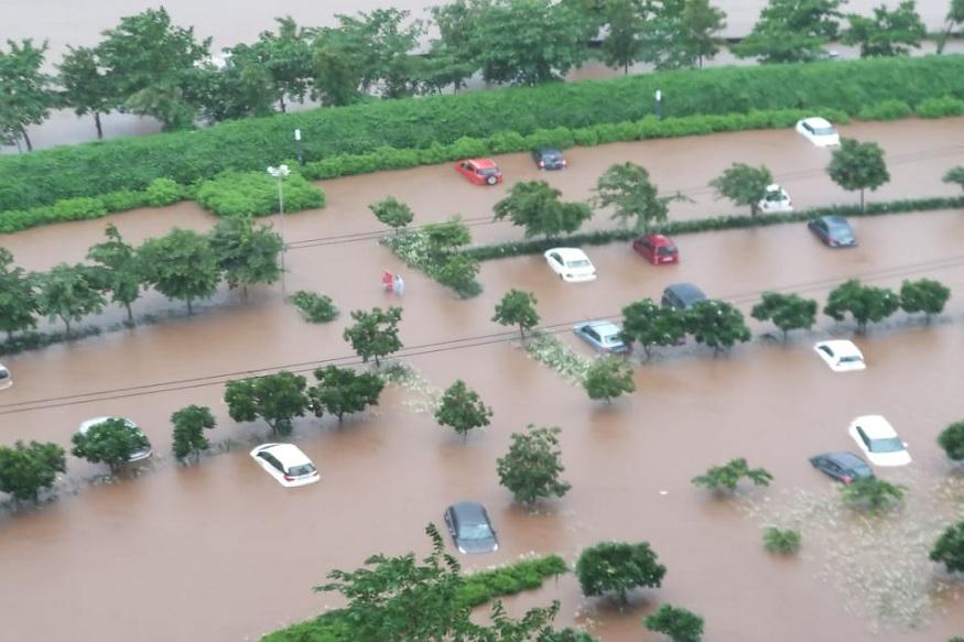 डोंबिवली पलावा सिटी पाण्याखाली