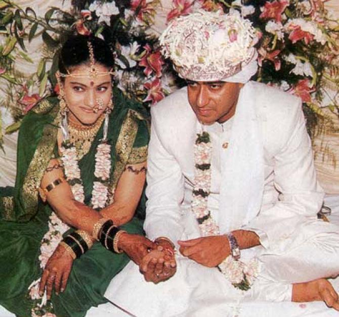 काजोलने 24 फेब्रुवारी 1999 मध्ये अजय देवगणशी लग्न केलं. 2001 मध्ये काजोलला मुलगी झाली. यानंतर तिने सिनेमांत काम करणं सोडून दिलं. नंतर 2010 मध्ये ती दुसऱ्यांदा आई झाली. काजोल- अजयने मुलीचं नाव न्यासा तर मुलाचं नाव युग ठेवलं.
