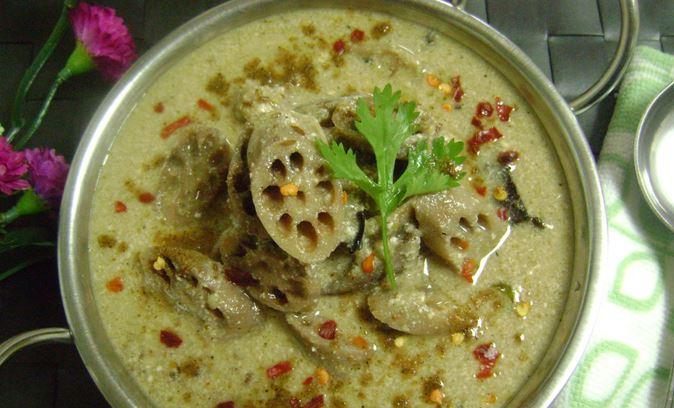 नदरू यखिनी- यखिनी दही आणि कमल काकडीपासून तयार होणारी ही एक शाकाहारी आमटी आहे. वेलची आलं आणि तमालपत्राच्या फोडणीमुळे या आमटी चव अजून चांगली होते.