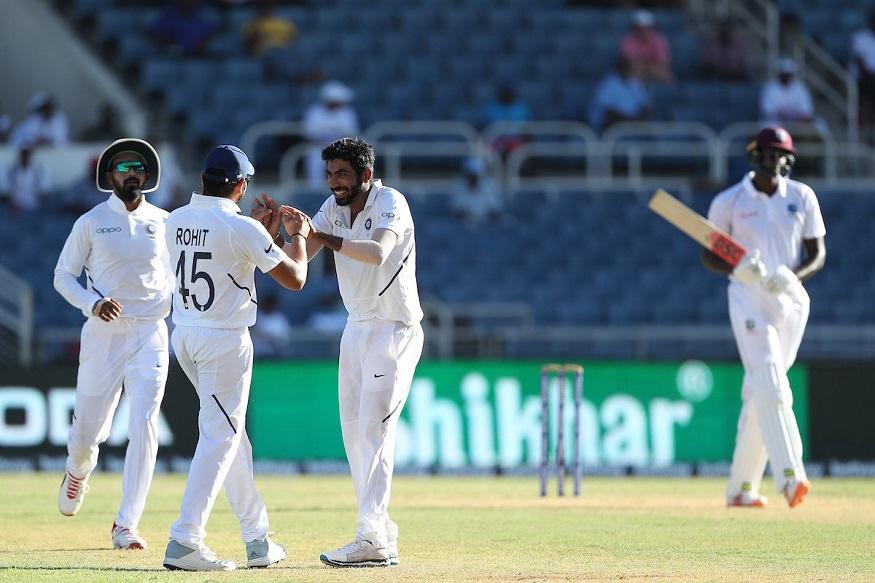 बुमराहनं 9.1 षटके गोलंदाजी करताना 3 षटके निर्धाव टाकली. त्यानं 16 धावा देत विंडीजचे 6 फलंदाज तंबूत धाडले.