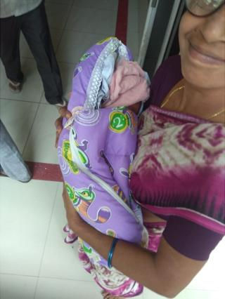 आंध्र प्रदेशातल्या गुंटूर इथल्या अहल्या नर्सिंग होम इथल्या डॉक्टरांनी IVF तंत्राने  हे बाळंतपण यशस्वी केलं.