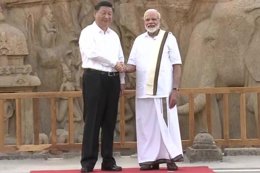 पंतप्रधान नरेंद्र मोदी आणि शी जिनपिंग या दोन नेत्यांची या प्राचीन वास्तूंच्या परिसरात भेट झाली.