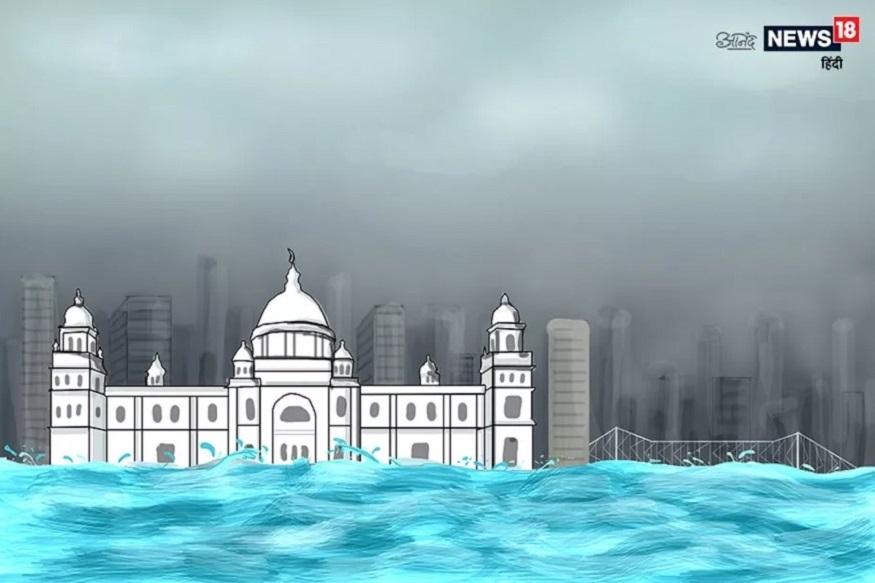 कोलकाता : समुद्रसपाटीपासून 9 मीटर उंचीवर असलेलं हे शहर प्रदूषणाचा सामना करतंय. त्याचबरोबर हे शहर बुडण्याचा धोका सगळ्यात जास्त आहे.