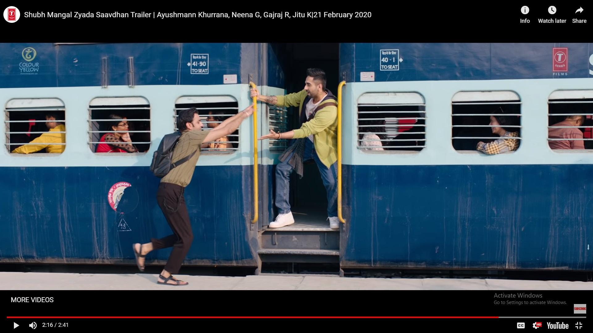 'दिलवाले दुल्हनियाँ ले जाएंगे'मधला सिम्रन आणि राजचा तो फेमस ट्रेन पकडण्याचा सीन या सिनेमातही दिसतोय.