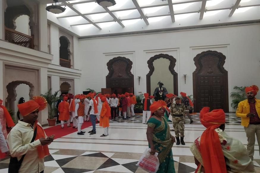 छत्रपती शिवाजी महाराज यांची वैश्विक जयंती आज राजधानी दिल्लीतील महाराष्ट्र सदनात साजरी झाली.