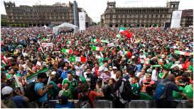 याला म्हणतात फुटबॉल!चाहत्यांच्या नुसत्या जल्लोषानं मेक्सिकोत 'भूकंप'