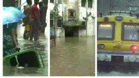 LIVE मुसळधार पावसामुळे मुंबईचे हाल, सखल भागात साचलं पाणी, रेल्वे रूळ पाण्याखाली